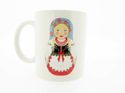 Babushka, Russian Doll Novelty Souvenir Gift Mug - MugsnKisses Collection - Each Mug Includes Free Chocolate Kiss!