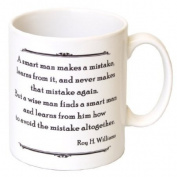 The Difference Between The Smart And The Wise Man Mug - MugsnKisses Collection - Each Mug Includes Free Chocolate Kiss!