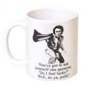 'Do I Feel Lucky.' Dirty Harry Tea Coffee Gift Mug - MugsnKisses Range - Each Mug Includes Free Chocolate Kiss!