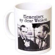 'Elementary, My Dear Watson.' Sherlock Holmes Gift Mug - MugsnKisses Collection - Each Mug Includes Free Chocolate Kiss!