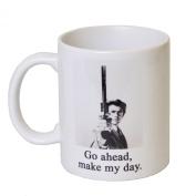 'Go Ahead, Make My Day' - MugsnKisses Range - Each Mug Includes Free Chocolate Kiss! -Dirty Harry Tea Coffee Gift Mug