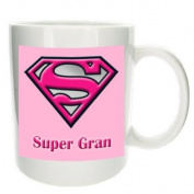 'Super Gran'- Mother's Day, Birthday, Christmas Office Tea Coffee Gift Mug - MugsnKisses Collection - Each Mug Includes Free Chocolate Kiss!