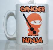 Ginger Ninja Printed Mug Joke Funny Novelty Ideal Gift / Present