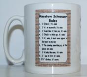 Miniature Schnauzer Rules' Novelty Dog Breed Printed Tea/Coffee Mug - Ideal Gift/Present
