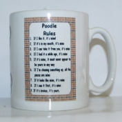 Poodle Rules' Novelty Dog Breed Printed Tea/Coffee Mug - Ideal Gift/Present