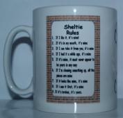 Sheltie Rules' Novelty Dog Breed Printed Tea/Coffee Mug - Ideal Gift/Present