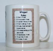 Whippet Rules' Novelty Dog Breed Printed Tea/Coffee Mug - Ideal Gift/Present