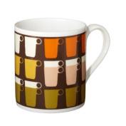 Orla Kiely Stacked Cup Mug Chocolate