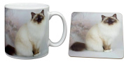 Birman Cat Christmas Gift Mug and Coaster Set Gift, Ref:AC-50MC