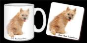 "Cairn Terrier Dog ""Love You Grandma..."" Grandparents Day Sentiment 330ml Mug and Coaster Gift Set"