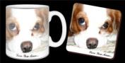 "Cavalier King Charles Spaniel Dog ""Love You Mum..."" Mothers Day Sentiment 330ml Mug and Coaster Gift Set"