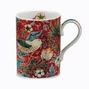 Royal Worcester Morris & Co Strawberry Thief Mug, Crimson