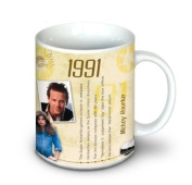 22nd Birthday Gift Idea - 1991 Coffee Mug