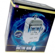 Dr Who Silver Ceramic Tardis Mug with Lid