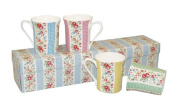 Churchill China Cath Kidston, Gingham Boxset of 4 Mugs