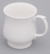 Bone China Set of 6 White STACKER Beakers/Mug gift boxed