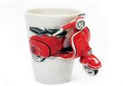 Vespa Red Handmade Coffee Mug