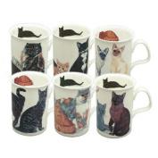 Set of 6 Mugs fine bone china Berries & Cherries - Roy Kirkham
