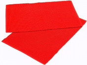 Homescapes - Two - Placemats - Red - 100 % Ribbed, hand loom Cotton - 12 x 18 Inch ( 30 x 45 cm ) - Easy care - Washable at 60 Deg C