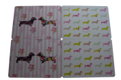 Stephanie Dyment Set of 4 Sausage Dog Design Table Mats Great Gift Wedding Present