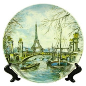 Souvenirs of France - Large Eiffel Tower Plate