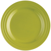 Rachael Ray 58243 Dinnerware, Double Ridge 4-Piece Dinner Plate Set, Green, 28cm