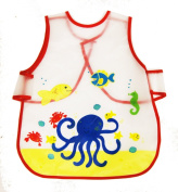 Kids Childs Arts Craft Painting Cooking Apron Baby Bib Messy Play Waterproof
