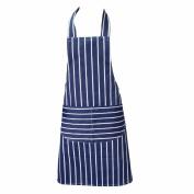 Striped Butchers Apron Navy & White Professional Kitchen Apron