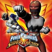 """Pack of 20 Power Rangers """"Super Legends"""" 2 ply Paper Napkins. Size 33cm x 33cm."""