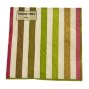 Green Triple Ply Sable Design Napkins