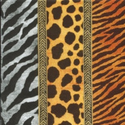 IHR African Animal Leopard Zebra Giraffe Print napkins 20 - Animal Print Gold
