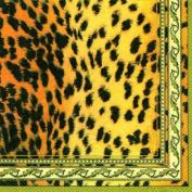 IHR African Animal Leopard Zebra Giraffe Print napkins 20 - Wildthing Cream