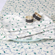 Grehom Table Napkins (Set of 2) - Vine Creepers; Beautiful Gift; 100% Cotton Napkin; Hand Printed Table Linen; Size 55x55cms