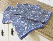 William Morris Strawberry Thief Pack Of 4 100% Cotton Floral Napkins