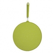 Kitchen Craft CWSPLATTERGRN Colourworks Silicone Splatter Guard - Green 28cm