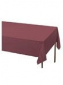 Unique Burgundy Plastic Table Cover