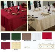 Black Table Runner Luxury Jacquard Hampton Design