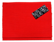 Homescapes - Table Runner - Red - 100% Ribbed Cotton - 17 x 70 Inch ( 44 x 178 cm ) - Easy care - Washable at 60 Deg C