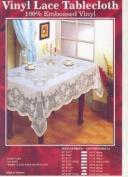 Vinyl Lace Tablecloth - 100% Embossed Vinyl - 152cm x 229cm