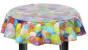 Round Vinyl Tablecloth (137cm diameter) - Balloons