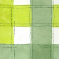 THE TABLECLOTH SHOP Checkers Green Vinyl Wipe Clean Tablecloth 1.4m Round