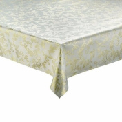 THE TABLECLOTH SHOP Palace Cream Gold Christmas Tablecloth 1.3m x 1.8m