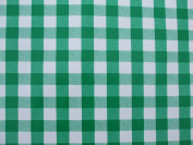 140x200cm OVAL PVC/VINYL TABLECLOTH - GREEN GINGHAM