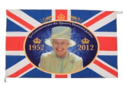 Diamond Jubilee Flag 133 cms x 80 cms FREE Support our Troops badge