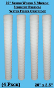 10cm x 51cm String Wound Sediment Particle 5 Micron Water filter Cartridges - Hard Well Water Filtering , Bio diesel WVO