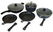 Pradel Excellence 52005M Cooking Set 5 Pieces Stoneware 1 Frying Pan 24 cm 1 Frying Pan 28 cm 1 Fryer 28 cm 1 Wok 32 cm 1 Saucepan 28 cm