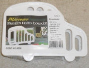MAGIC MICROWAVABLE FROZEN FOOD HOLDER/RACK. FOR USE WITH COOKING SACHETS.