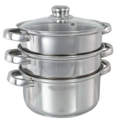 Buckingham INDUCTION 3-Tier Steamer Set 18 cm RRP £40