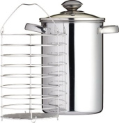 Kitchen Craft 3 Litre Clearview Stainless Steel Asparagus Steamer
