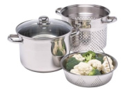 Kitchen Craft Clearview Stainless Steel Multi Cooker and Steamer with Pasta Pot 26cm